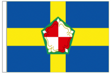 "Pembrokeshire Sir Benfro County 18"" x 12"" (45cm x 30cm) Sleeved Boat Flag"